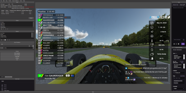 iRacing Live Timing, Live HUD and Live Streamer app (1 Year License)